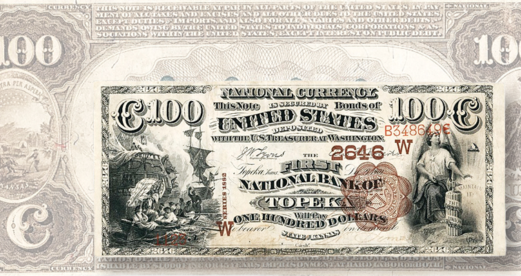 Series 1882 Second Charter Period Brown Back national bank note