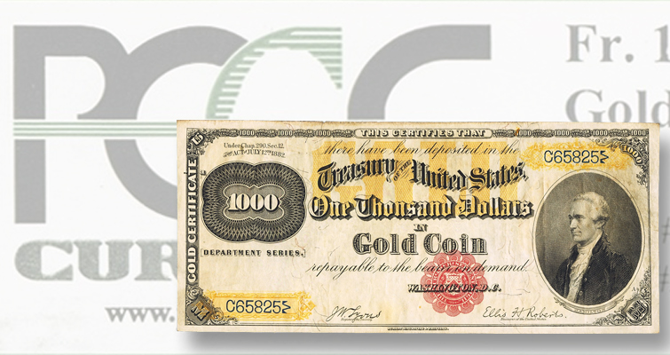 Gold certificates among the stars in the Heritage Currency Signature Auction in Denver