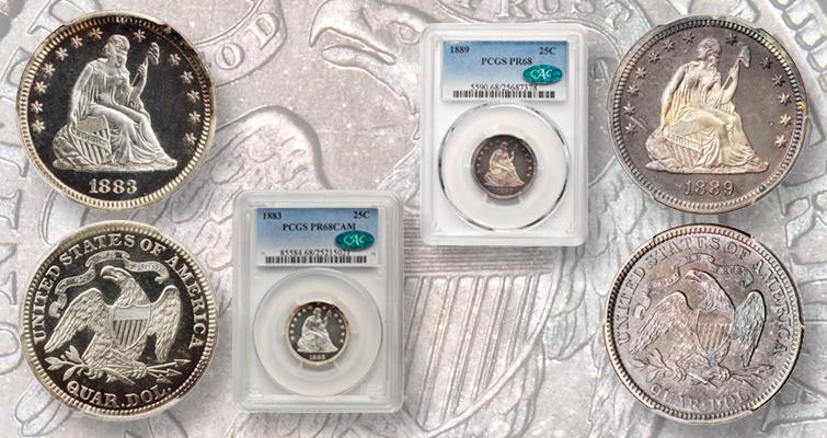 1883 and 1889 quarter