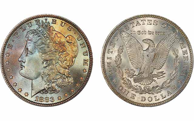 1883 Morgan dollar notable for its eye appeal sells for $49,937.50: Market Analysis