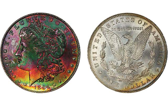 David Hall's collection of toned Morgan silver dollars sell at Legend's Feb. 19 Las Vegas auction