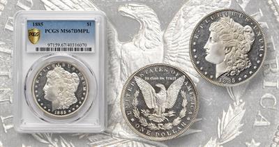1885 MS67 Morgan Dollar