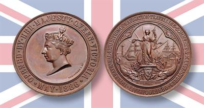 1886 Liverpool exhibition medal