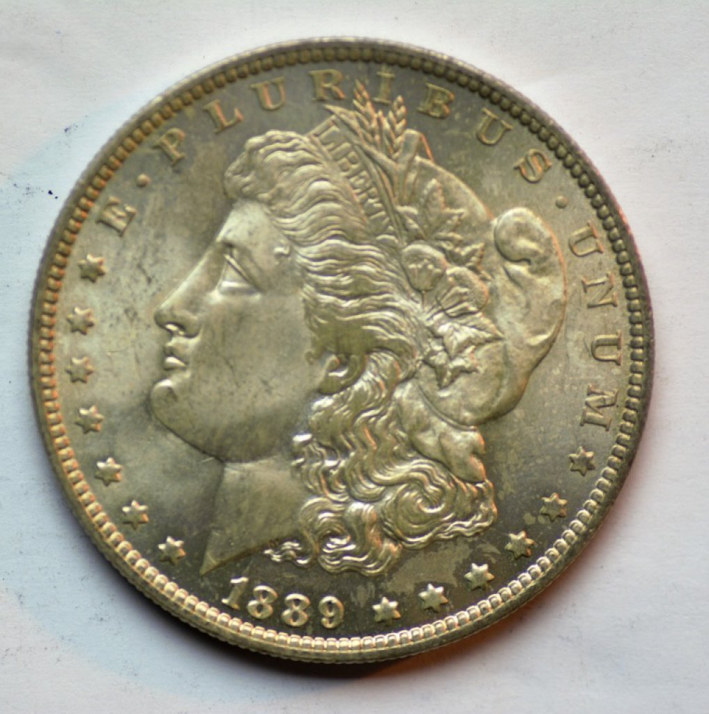 A winning $330 realized bid on this 1889-O Morgan dollar may have been worth risking. Of the coin's generous mintage of 11,875,000, only about a tenth survived, and most circulated. That makes gem examples, like this one seems to be, difficult to locate, and pricey when certified.