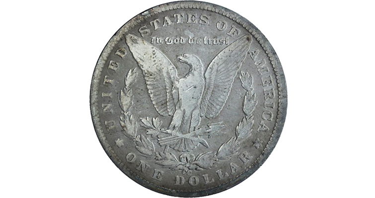 This 1890-CC Morgan, Tailbar dollar with a deep die gouge is also known as the 1890-CC VAM-4  variety, discovered in 1951.