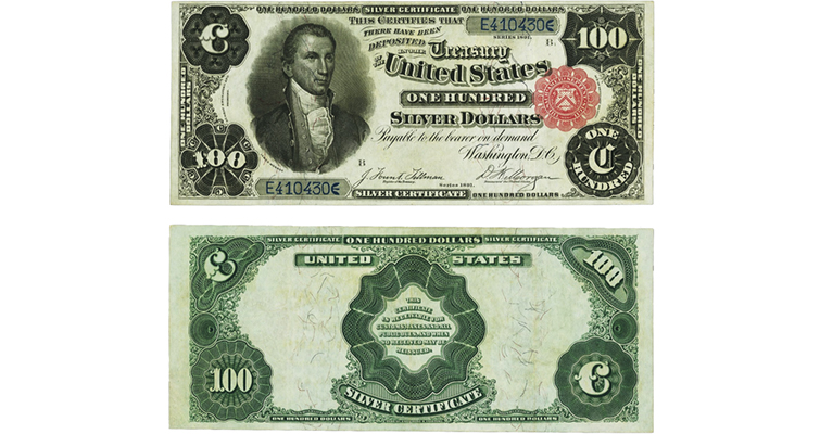 Series 1891 $100 silver certificate