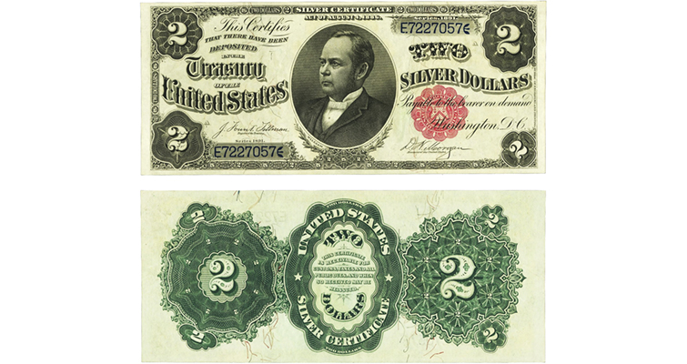Series 1891 $2 silver certificate
