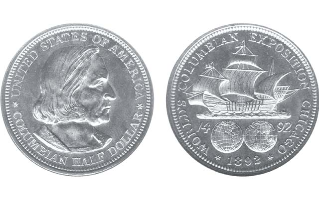 "Few things are more historical than the ""discovery"" of the Americas. The first U.S. commemorative coin was a silver half dollar struck in 1892 to help fund celebration of the 400th anniversary of Columbus' journey."