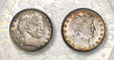 1892 and 1894 New Orleans coins