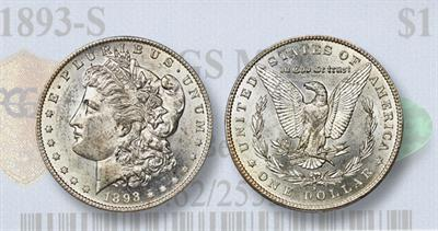 1893-S silver dollars