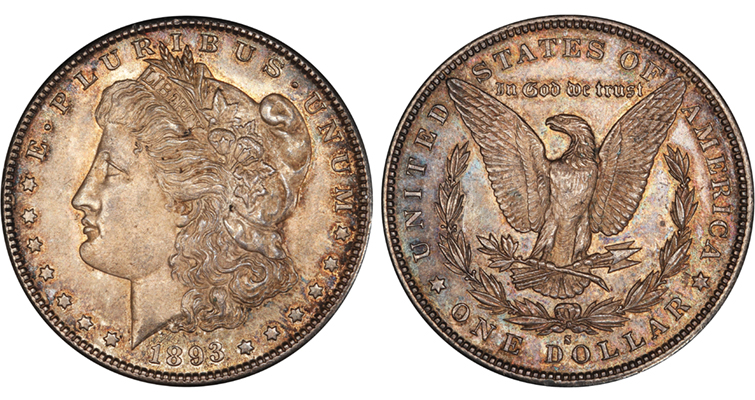 1893-S Morgan dollar PCGS merged