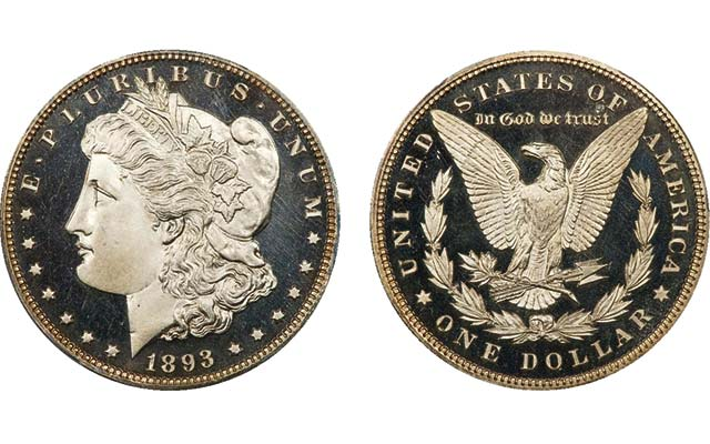 Proof 67+ Deep Cameo 1893 Morgan silver dollar brings $70,500 at Legend Rare Coin Auctions' Feb. 19 sale