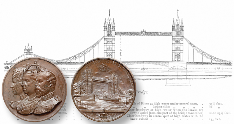 1894 bronze medal marks opening of London's Tower Bridge
