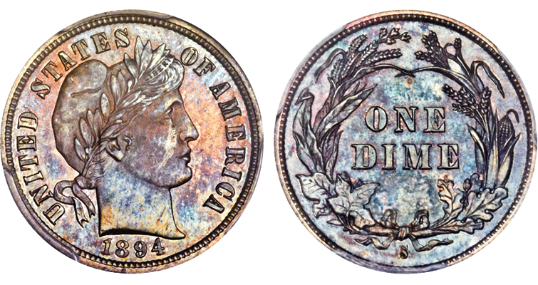 Finest-known 1894-S Barber dime