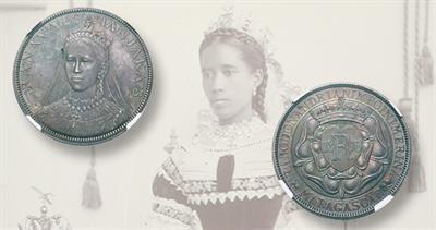 1895 pattern 5 Francs for Madagascar