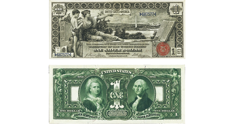 Series 1896 $1 silver certificate Educational note