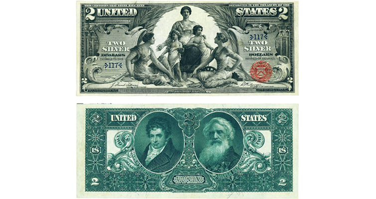 Series 1896 $2 silver certificate