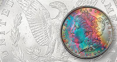 1896 toned Morgan dollar