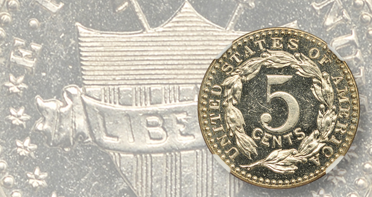 Untouted 5-cent pattern designed by Charles Barber features inventive design
