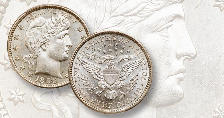 1896-S quarter dollar