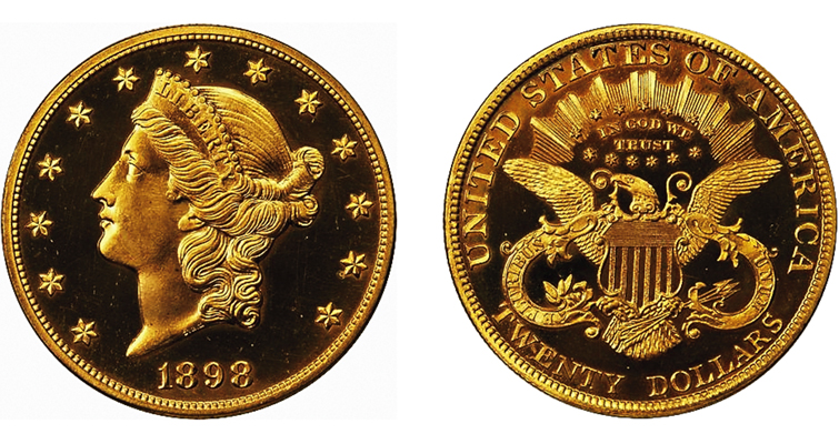 1898 Coronet double eagle graded Proof 65+ CAC