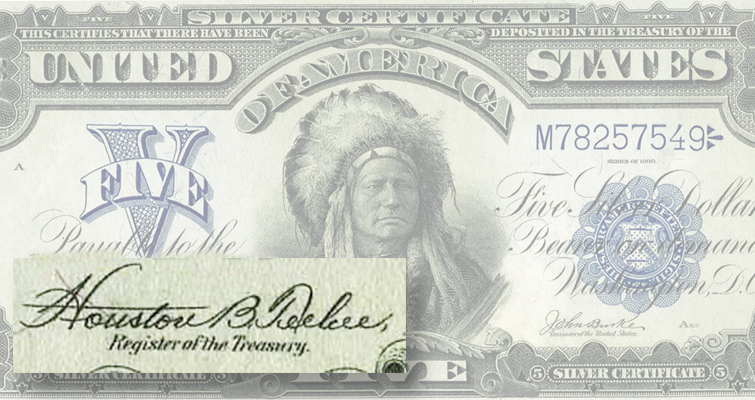 Some 'Indian Chief notes' bear signature of Cherokee official