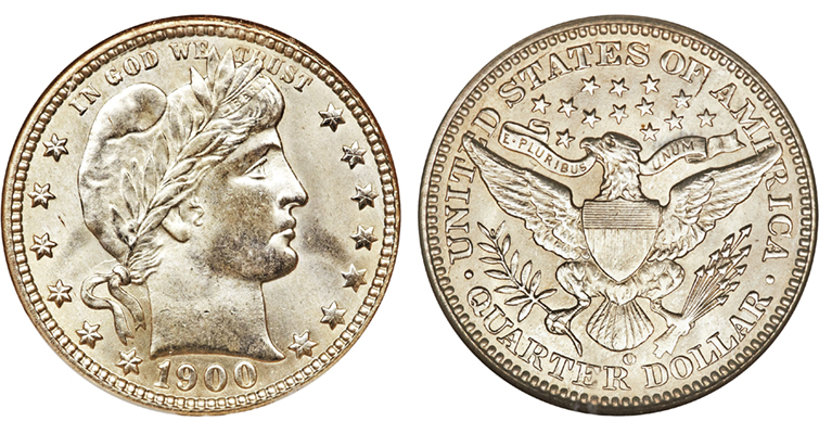 1900 Barber quarter dollar