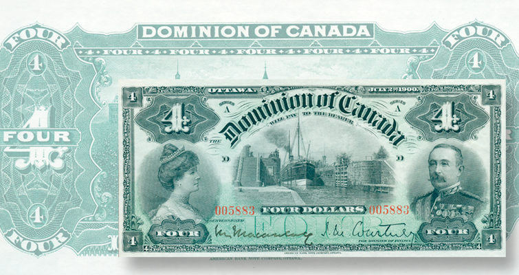 Dominion of Canada $4 note dated July 2, 1900
