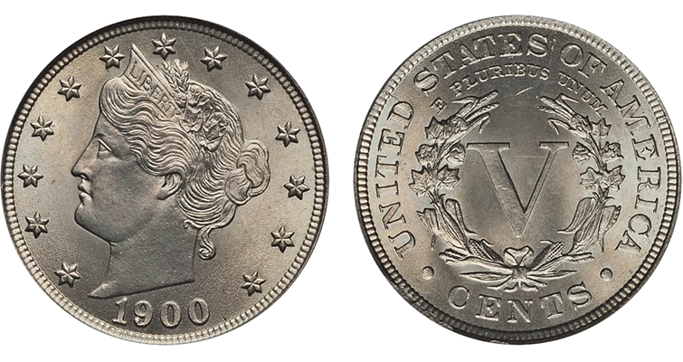 1900 Liberty Head 5-cent piece