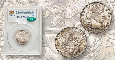 1901-S quarter dollar
