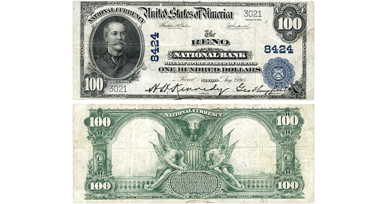 Series 1902 $100 Plain Back national bank note