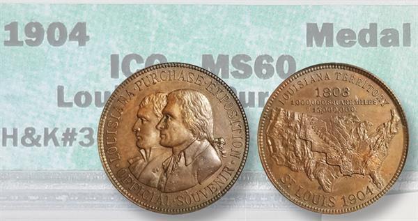 1904 Louisiana Purchase Expo bronze medal