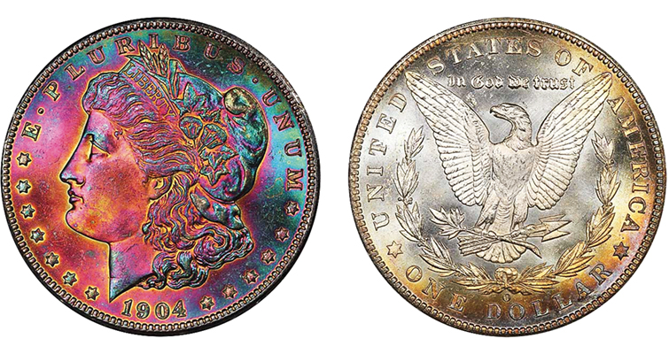 MS-67 CAC 1904-O Morgan dollar