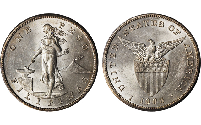 The Key Coin For Collectors Of American Philippine Coinage Is 1906 S Silver Peso Which Rare Despite A Reportedly High Mintage