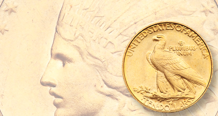 Rounded Rim 1907 Indian Head gold $10 eagle avoided melting pot