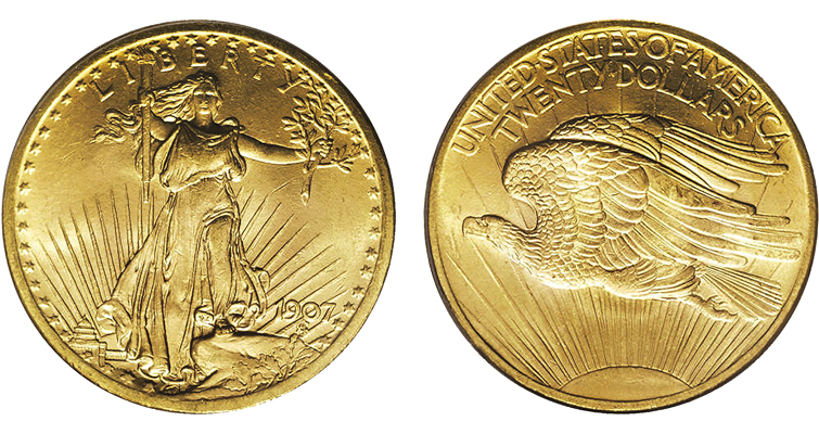 Saint-Gaudens designed what is widely regarded as the most beautiful United States coin ever minted — the $20 double eagle of 1907 to 1933.