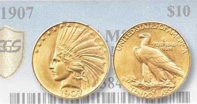 1907 rolled rim eagle