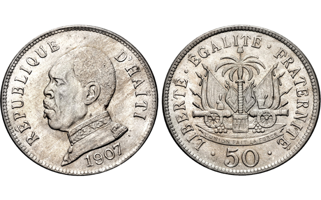 Lissner Collection auction includes 50-centime coin struck for Haiti in 1907
