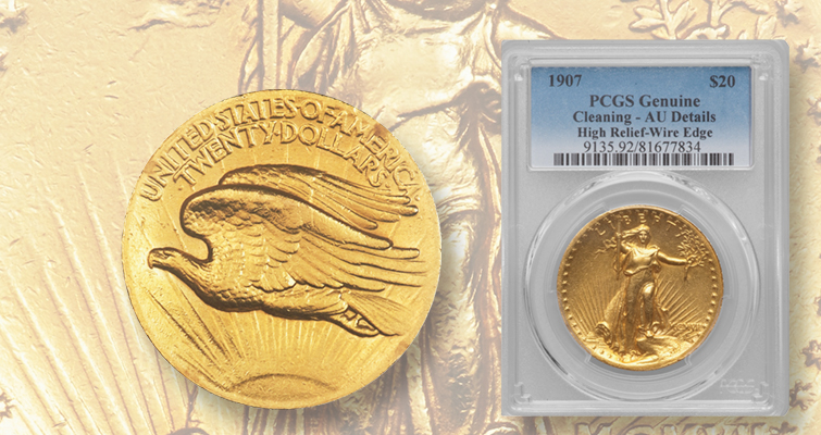 Entry level 1907 high relief gold double eagle