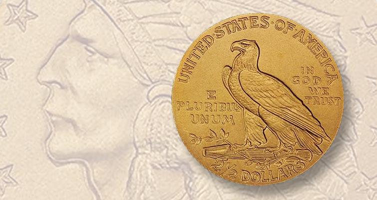 1908 Indian Head quarter eagle