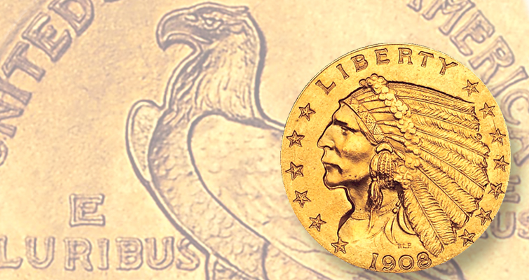 Indian Head gold coins, panned when they were in production, now in demand