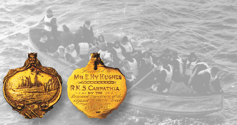 SS Carpathia rescued some of the Titanic's passengers and the captain and crew were awarded medals in thanks