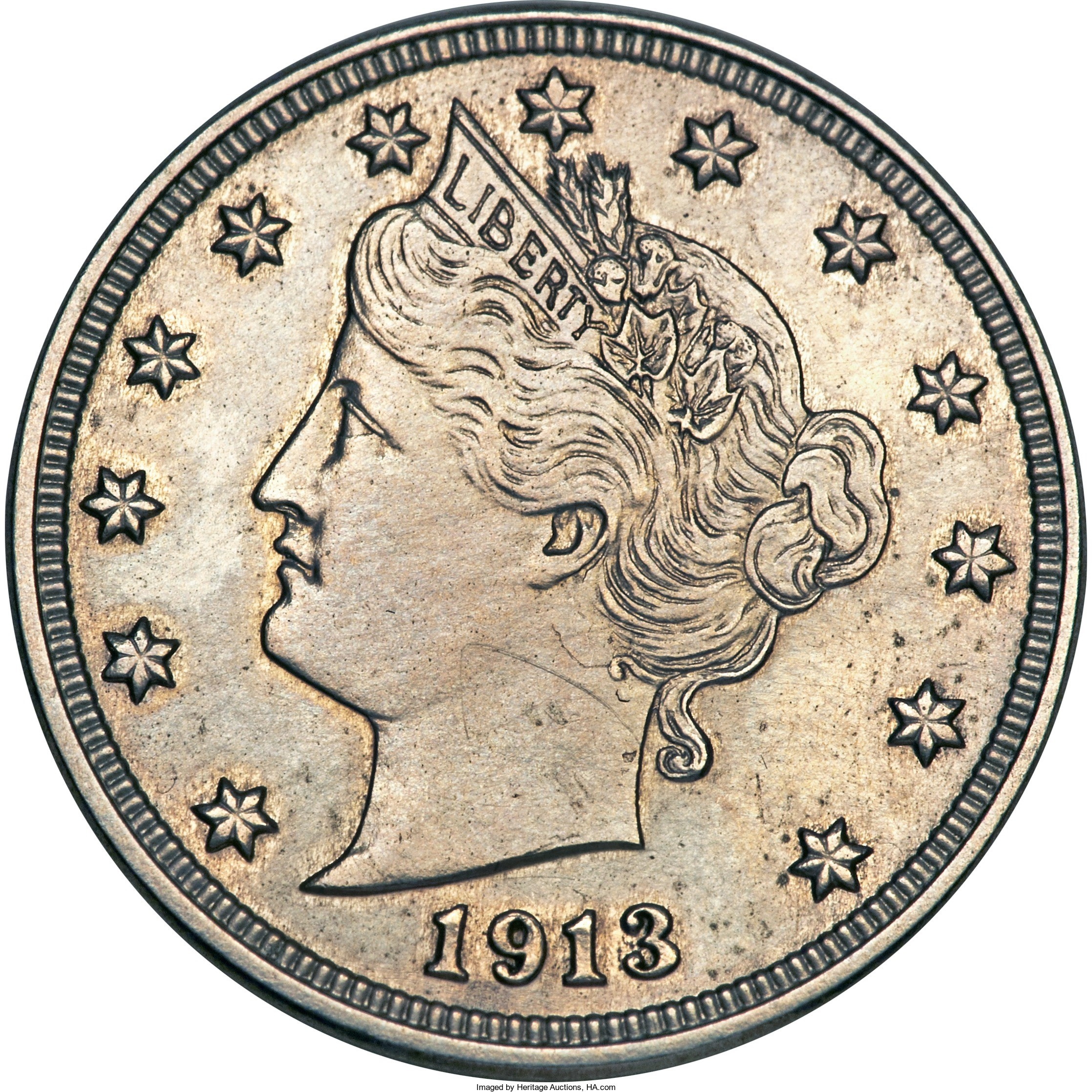This 1913 Liberty Head 5-cent piece famously appeared in a 1973 episode of the Hawaii Five-0 television show. It sold for $3,736,500 at auction in 2010.