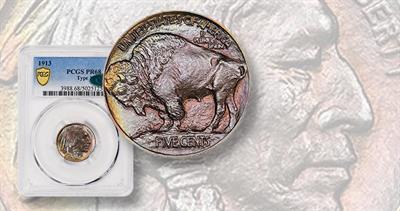1913 Indian Head, Bison on Mound 5-cent
