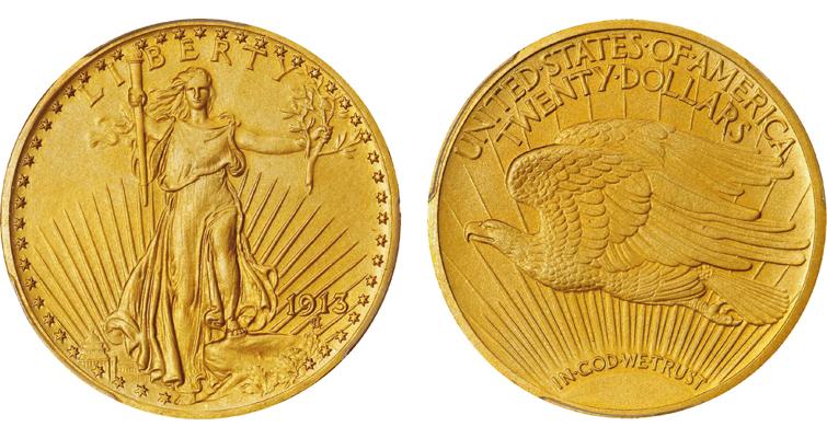 1913 Saint-Gaudens $20 gold double eagle