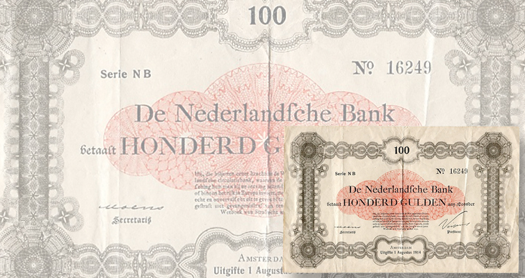1914 Dutch note sets record for paper money from Netherlands