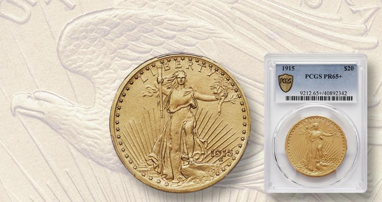 1915 Saint-Gaudens gold $20