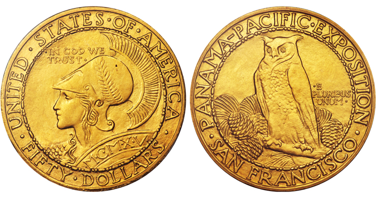 1915-S Panama-Pacific International Exposition gold $50 coin