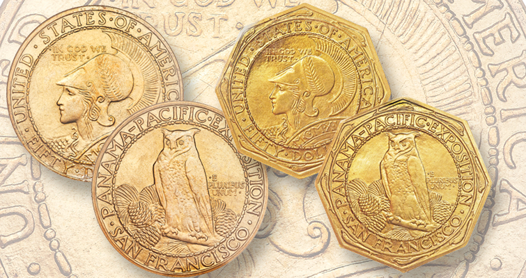 Gorgeous Gold 1915 S Panama Pacific Commemoratives