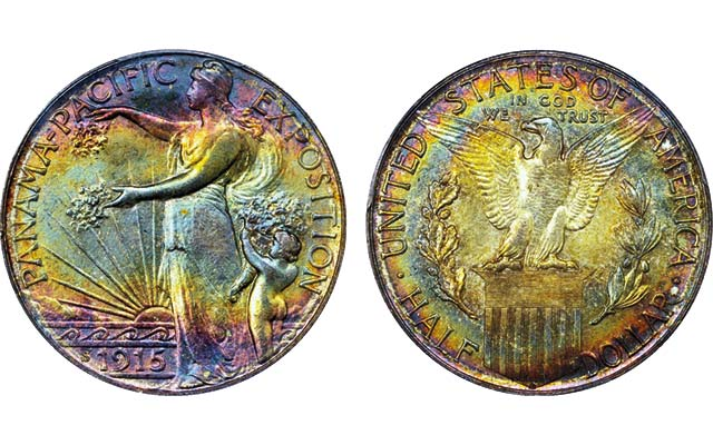 1915-S Panama-Pacific International Expo half dollar appeals to the eye